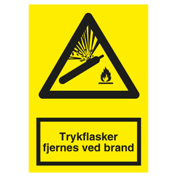 A 322 Trykflasker fjernes ved brand